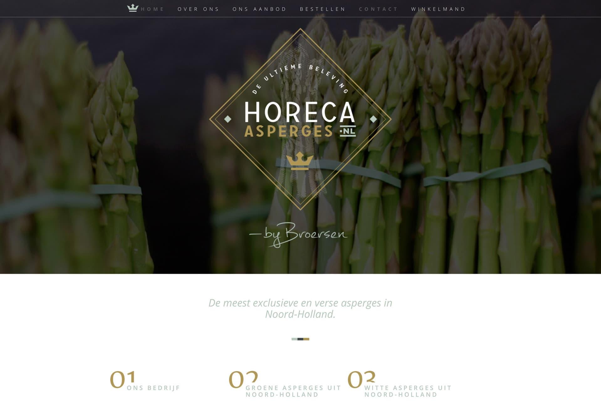 Website Schagen verzorgt Horeca Asperges